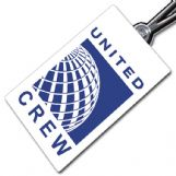 United Airlines Crew Tag (portrait)